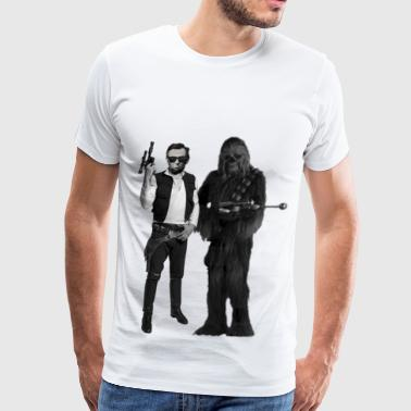 Abe Lincoln Han(est) Abe and Chewbaca - Men's Premium T-Shirt