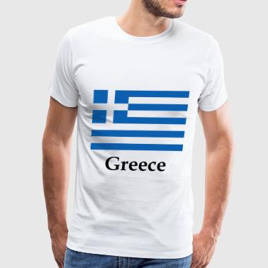 Greece Flag - Men's Premium T-Shirt