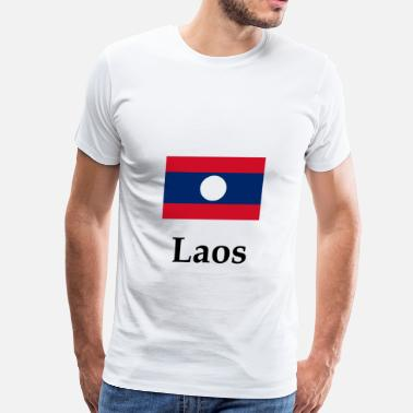 Lao Flag Laos Flag - Men's Premium T-Shirt