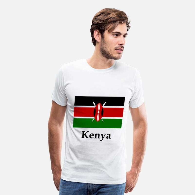 Kenya T-Shirts - Kenya Flag - Men's Premium T-Shirt white