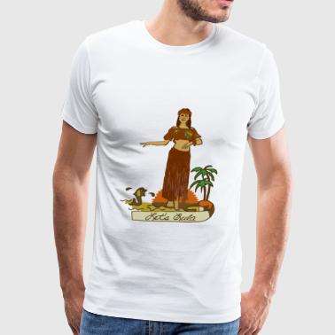 Hula Girl - Men's Premium T-Shirt