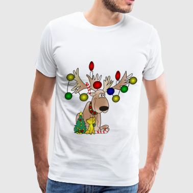 Christmas Moose Christmas Moose - Men's Premium T-Shirt
