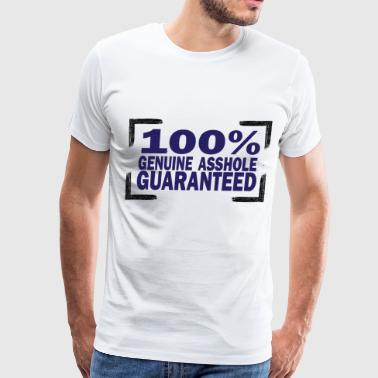 100% GENUINE ASSHOLE - Men's Premium T-Shirt