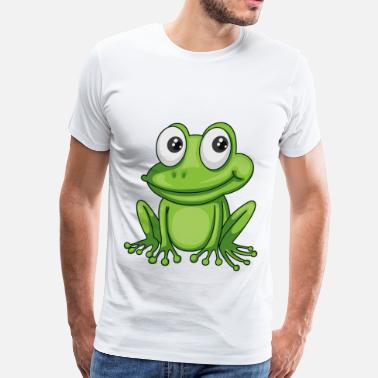 Frog Smiling Cartoon Frog - Men's Premium T-Shirt