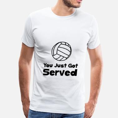 Volleyball Served Volleyball Served - Men's Premium T-Shirt
