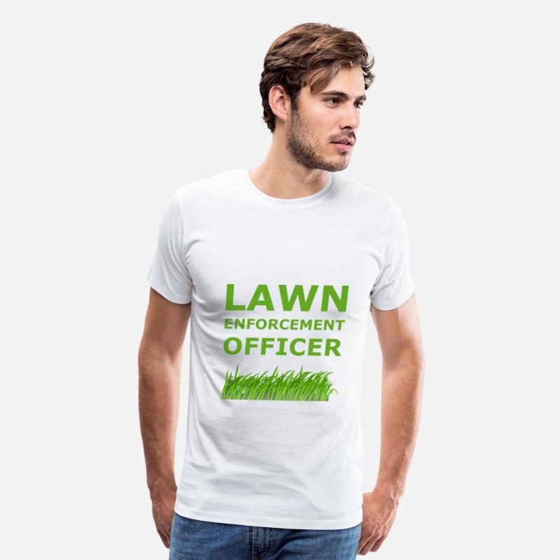 Enforcement T-Shirts - Lawn Enforcement Officer - Men's Premium T-Shirt white