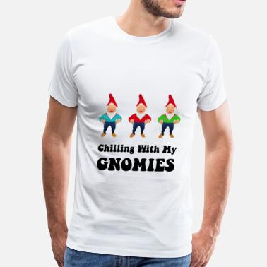 Trolling For Science Chilling With My Gnomies - Men's Premium T-Shirt