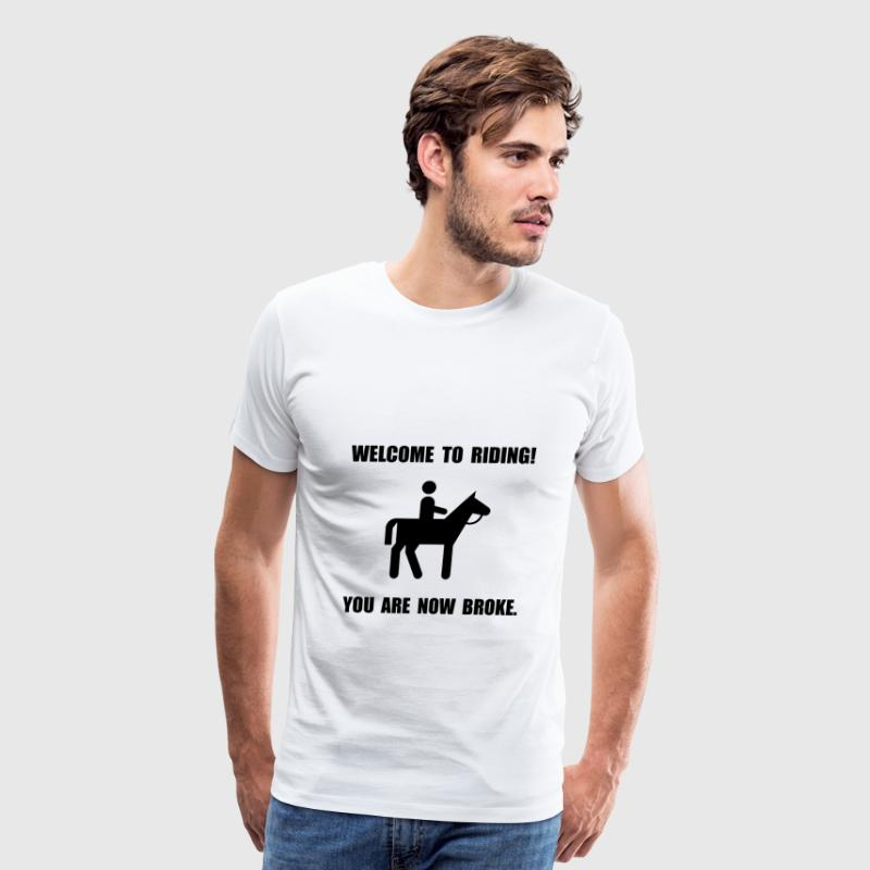 Horseback Riding Broke - Men's Premium T-Shirt