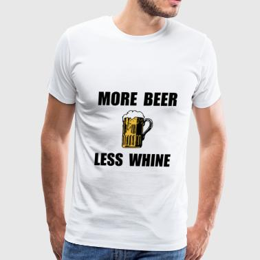 Custom Fraternity More Beer Less Whine BLac - Men's Premium T-Shirt