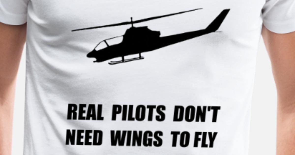 Helicopter Pilot Wings Men's Premium T-Shirt | Spreadshirt