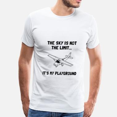 Aviation Pilot Aircraft Flying Sky Playground Plane - Men's Premium T-Shirt