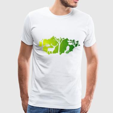 Green world - Men's Premium T-Shirt