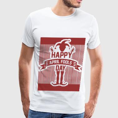 April Fools' Day HAPYY 8182819212.png - Men's Premium T-Shirt