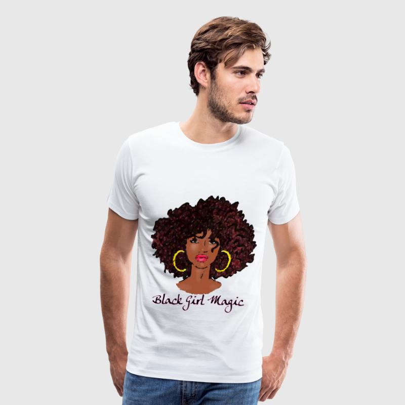 AFRO BLACK GIRL MAGIC - Men's Premium T-Shirt