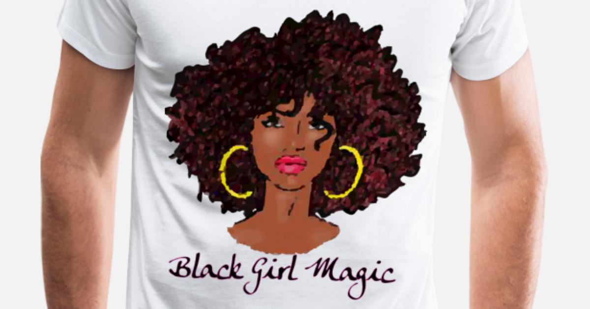 ad1bd2b8 AFRO BLACK GIRL MAGIC Natural Hair Team Natural Men's Premium T-Shirt |  Spreadshirt