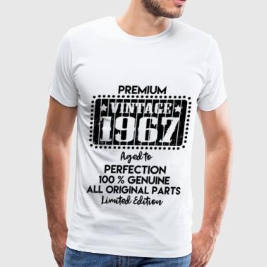 Vintage Made In 1967 Genuine Original Parts Limite 67 1.png - Men's Premium T-Shirt