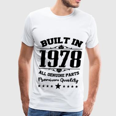 Built In 1978 1978 a.png - Men's Premium T-Shirt