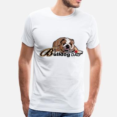 Bulldog Dad Bulldog  Dad - Men's Premium T-Shirt