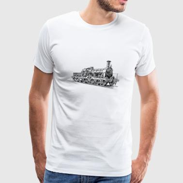 Steam Locomotive - Men's Premium T-Shirt