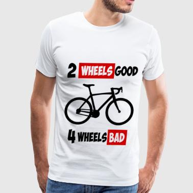 2 Wheels 2 wheels 1a.png - Men's Premium T-Shirt