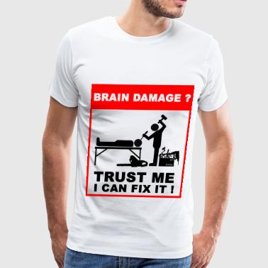 Damage Brain damage - Men's Premium T-Shirt