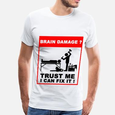 Damaged Brain damage - Men's Premium T-Shirt