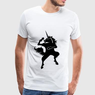 Cool dancing unicorn - Men's Premium T-Shirt