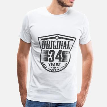 34 Birthday ori 34 a.png - Men's Premium T-Shirt