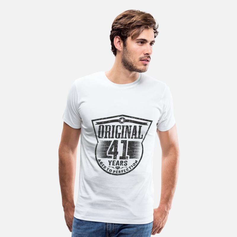 Aged To Perfection T-Shirts - 41 aa 1.png - Men's Premium T-Shirt white