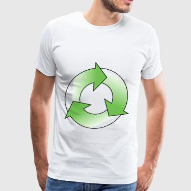 Three green arrows circle - Men's Premium T-Shirt