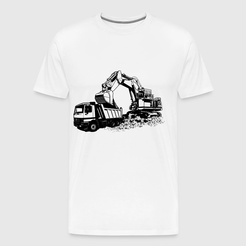 Dump Truck And Excavator - Men's Premium T-Shirt