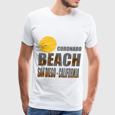 San Diego Beach California CORONADO 1A.png - Men's Premium T-Shirt