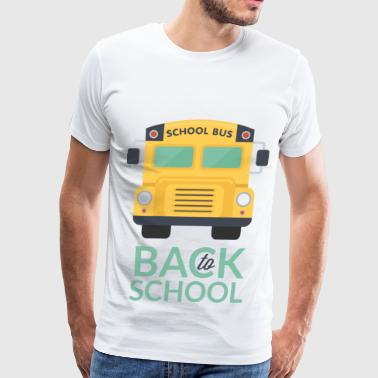 Back to school school bus - Men's Premium T-Shirt