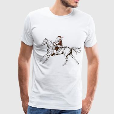 Santa on horseback - Men's Premium T-Shirt