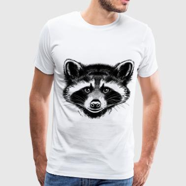 sketches of animals raccoon - Men's Premium T-Shirt