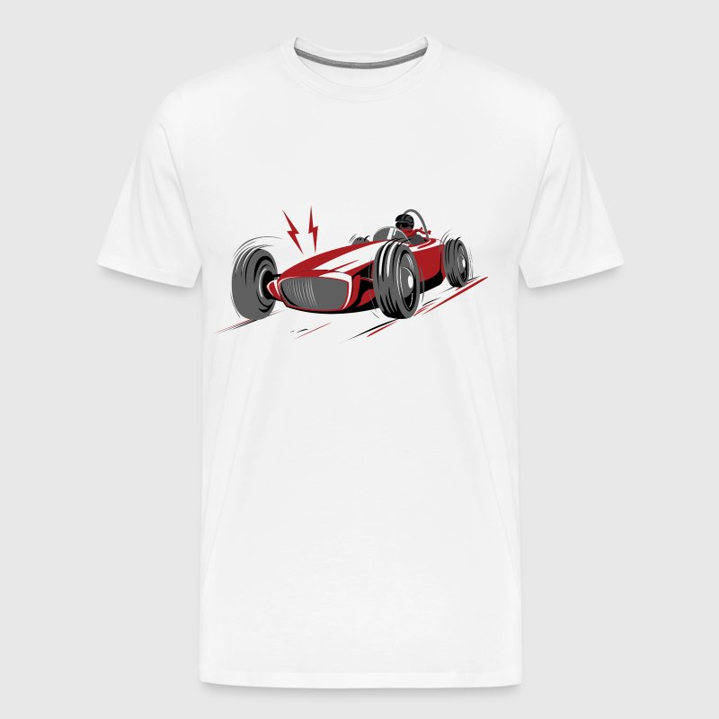 retro racing car red - Men's Premium T-Shirt