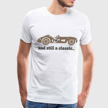 70th Birthday classic car - Men's Premium T-Shirt