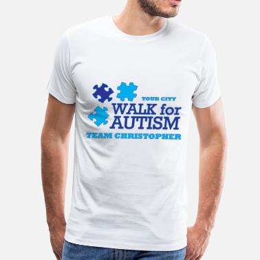 Charity Races Walk for Autism - Men's Premium T-Shirt