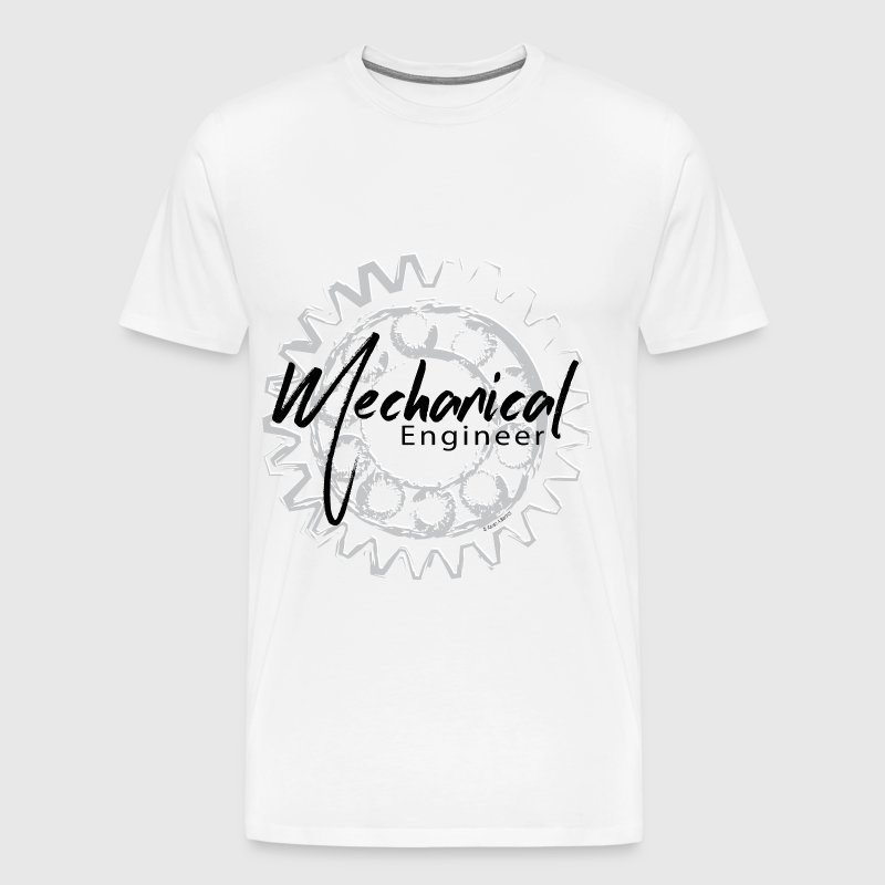 Mechanical Engineer Gear Sketch - Men's Premium T-Shirt