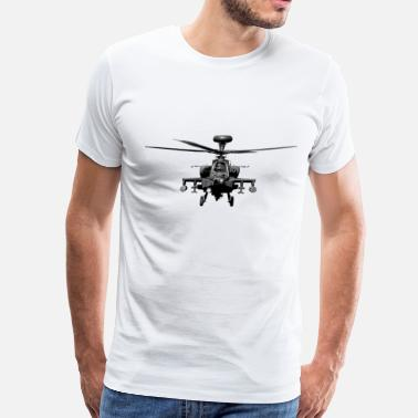 Military Helicopters Apache US Military Helicopter - Men's Premium T-Shirt