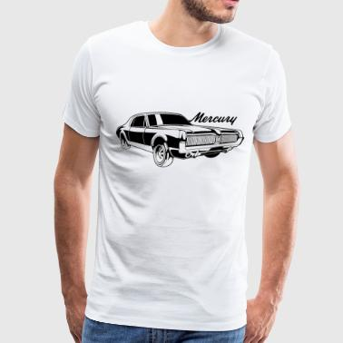 auto_mercury_cougar_bw1 - Men's Premium T-Shirt