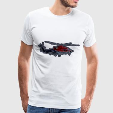Crochet Helicopter - Men's Premium T-Shirt