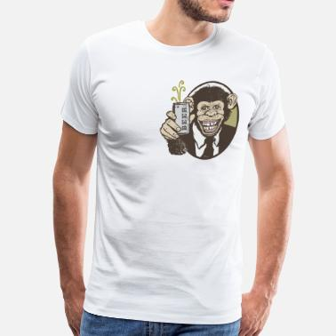 Studio One Chimp Beer Smile - Men's Premium T-Shirt