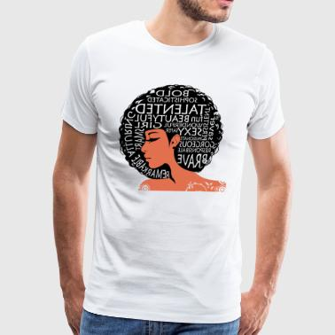AFRO BEAUTIFUL GIRL - Men's Premium T-Shirt