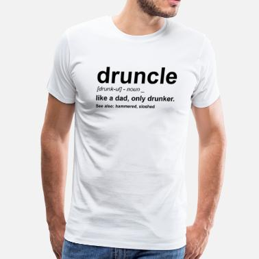 White Trash druncle white - Men's Premium T-Shirt