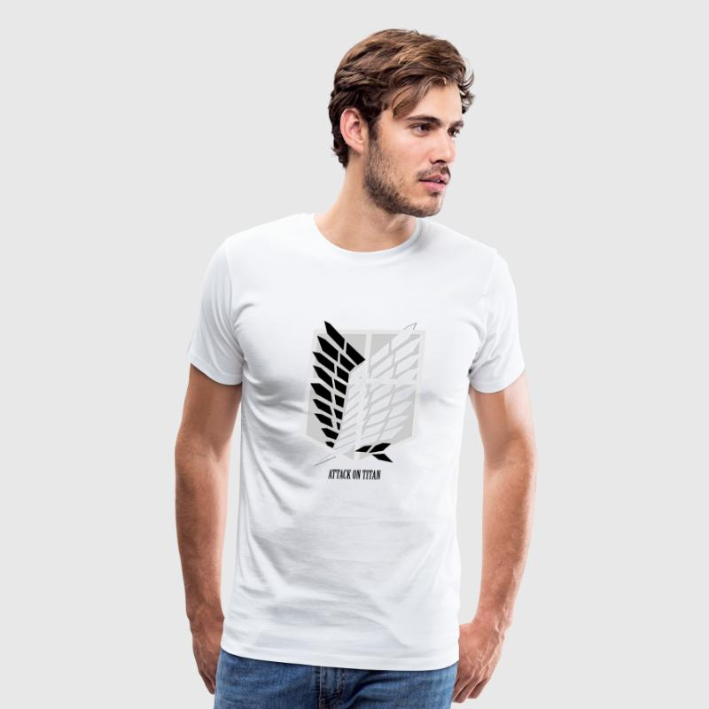 Attack On Titan: Wings of Freedom T-shirt w/ Text - Men's Premium T-Shirt