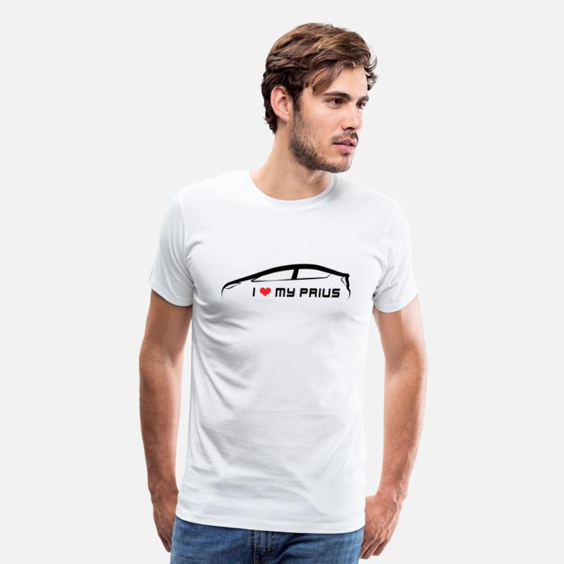 Toyota T-Shirts - I love my Prius - Men's Premium T-Shirt white