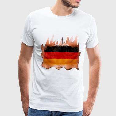 Fuck Germany germany sixpack - Men's Premium T-Shirt
