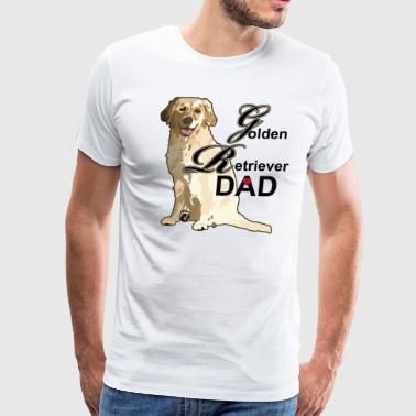 Golden Retriever Dad - Men's Premium T-Shirt