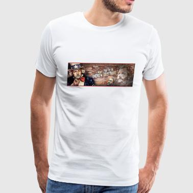 Breitbart - Panorama Wall - Men's Premium T-Shirt